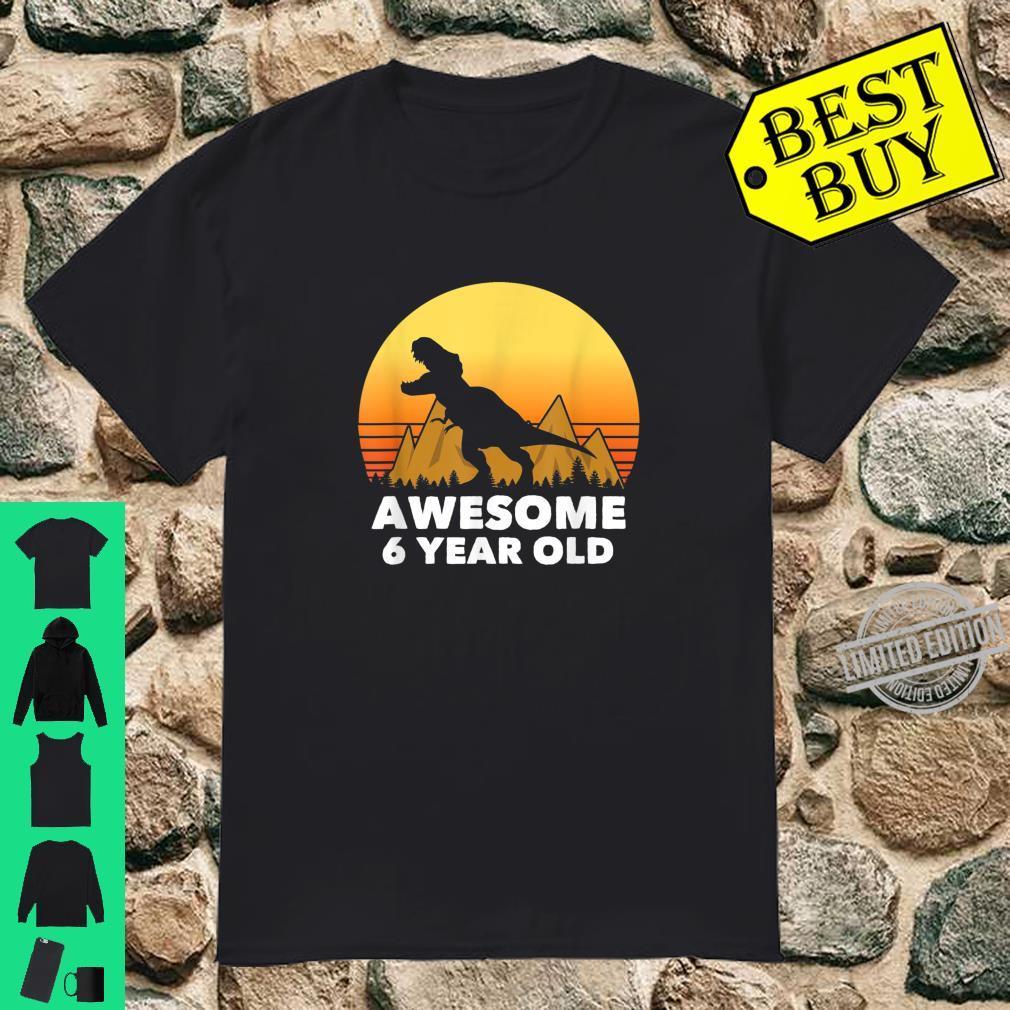 6th Birthday TRex Shirt, Dinosaur 6 Year Old Shirt