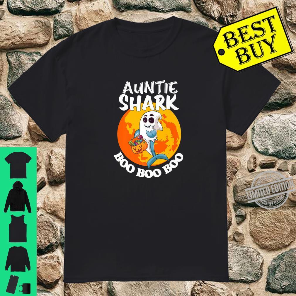 Auntie Shark Boo Boo Boo Family Shark Halloween Shirt