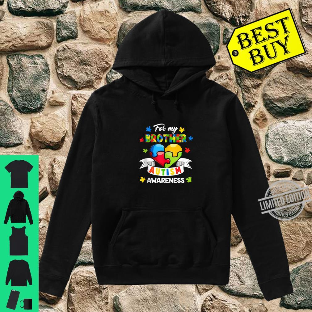 Autism Brother For My Brother Heart Puzzle Autism Awareness Shirt hoodie