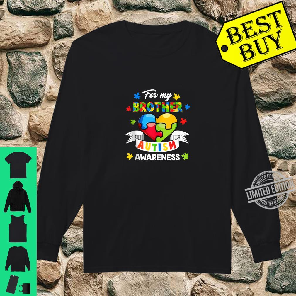 Autism Brother For My Brother Heart Puzzle Autism Awareness Shirt long sleeved
