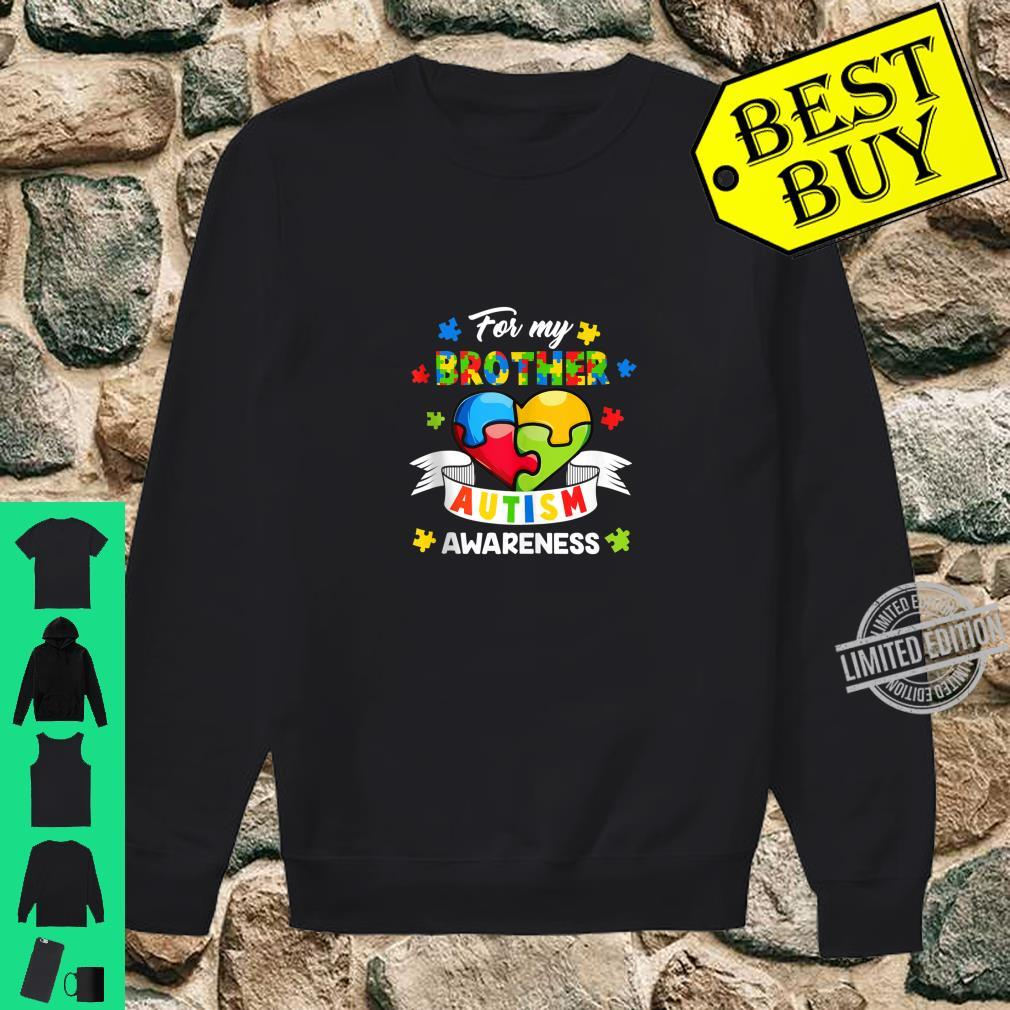 Autism Brother For My Brother Heart Puzzle Autism Awareness Shirt sweater