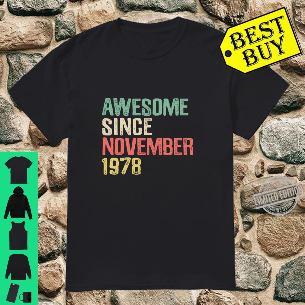 Awesome Since November 1978 Geschenke Zum 41 Geburtstag Langarmshirt Shirt