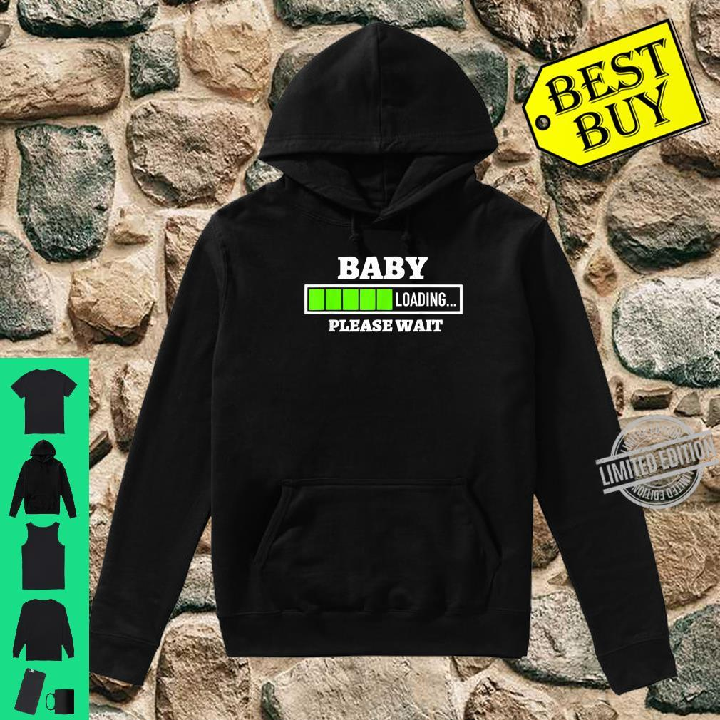 Baby Loading Please Wait Progress Bar Pregnancy Fun Shirt hoodie