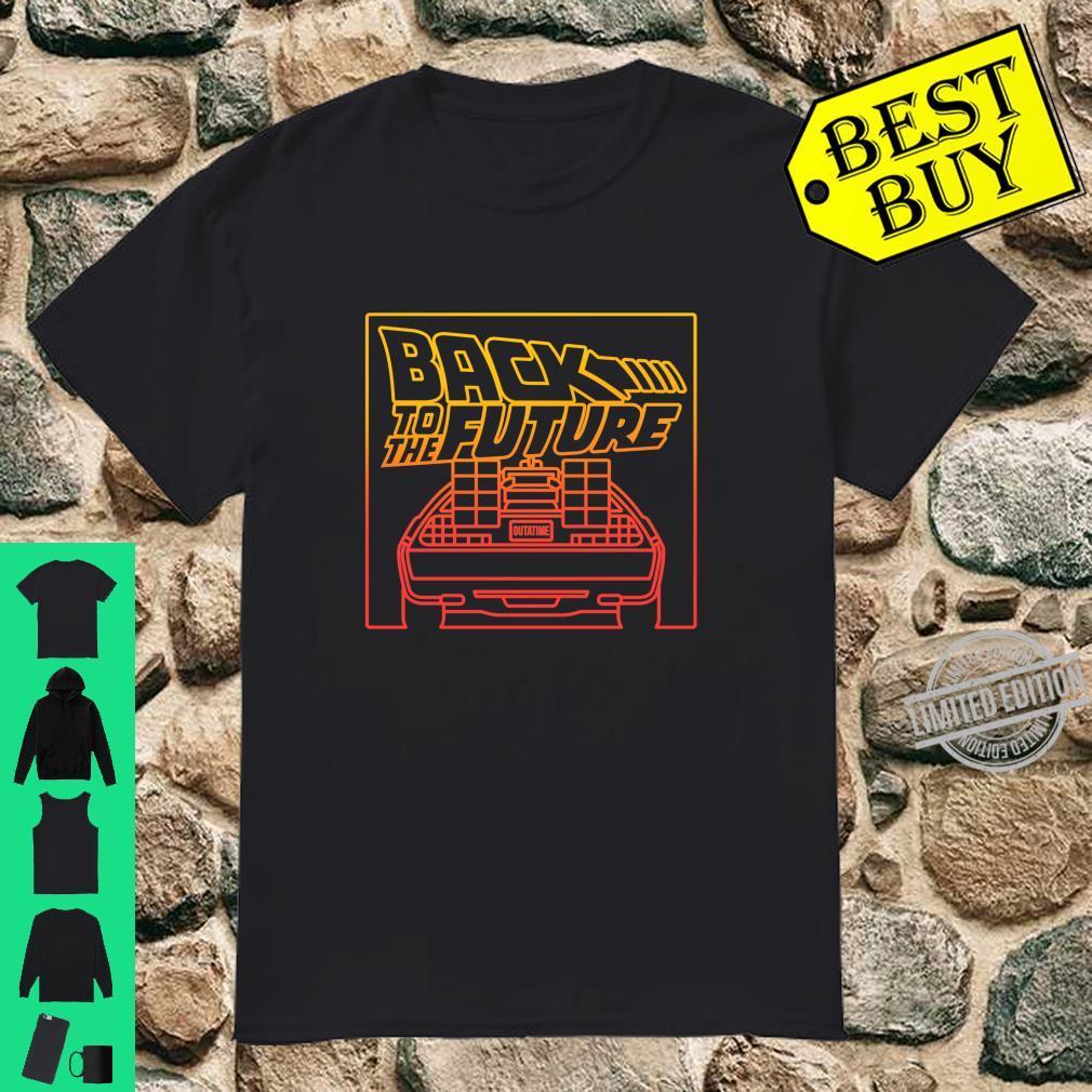 Back To The Future DeLorean Gradient Line Art Shirt
