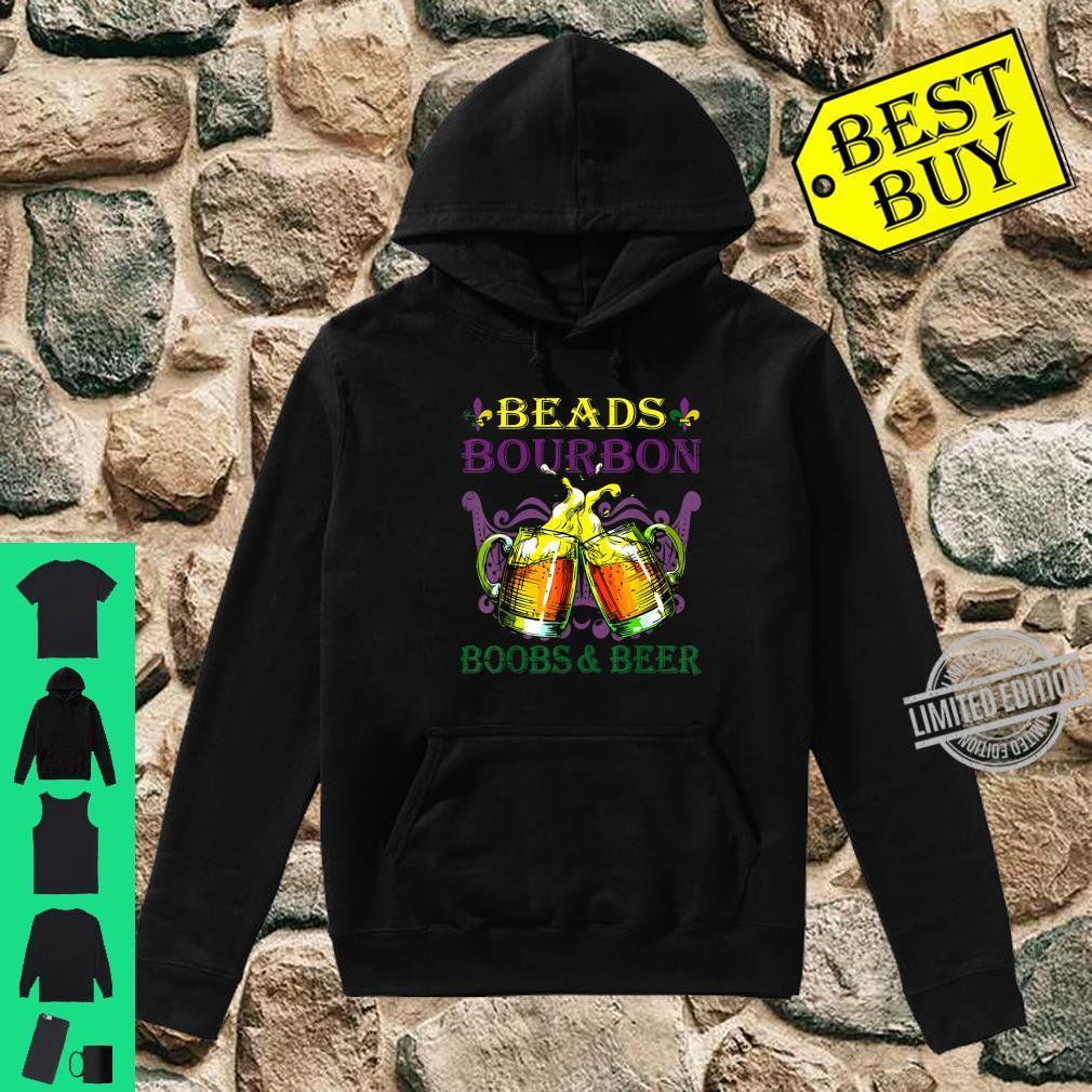 Bring On The Beer and Beads Mardi Gras Zip Hooded Sweatshirt