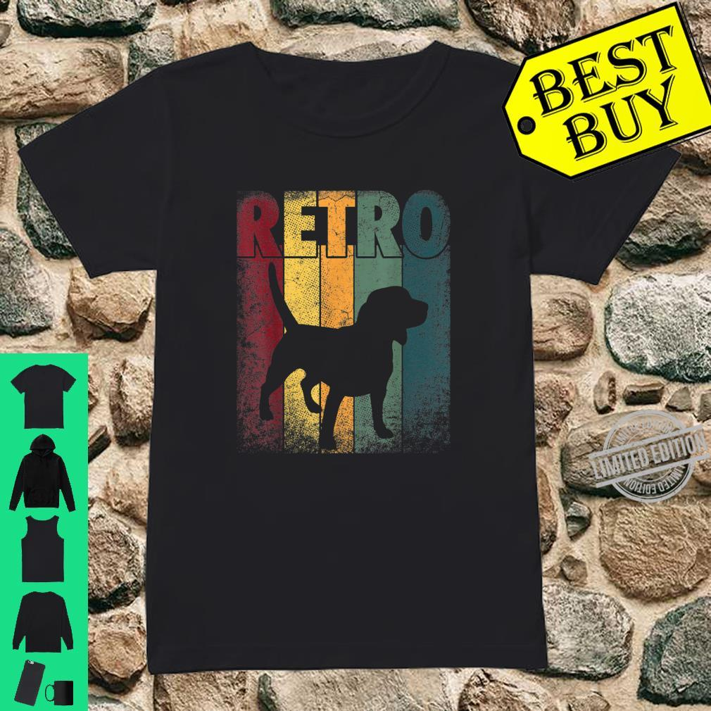 Beagle Shirt Dog Vintage Retro Style Classic Shirt ladies tee