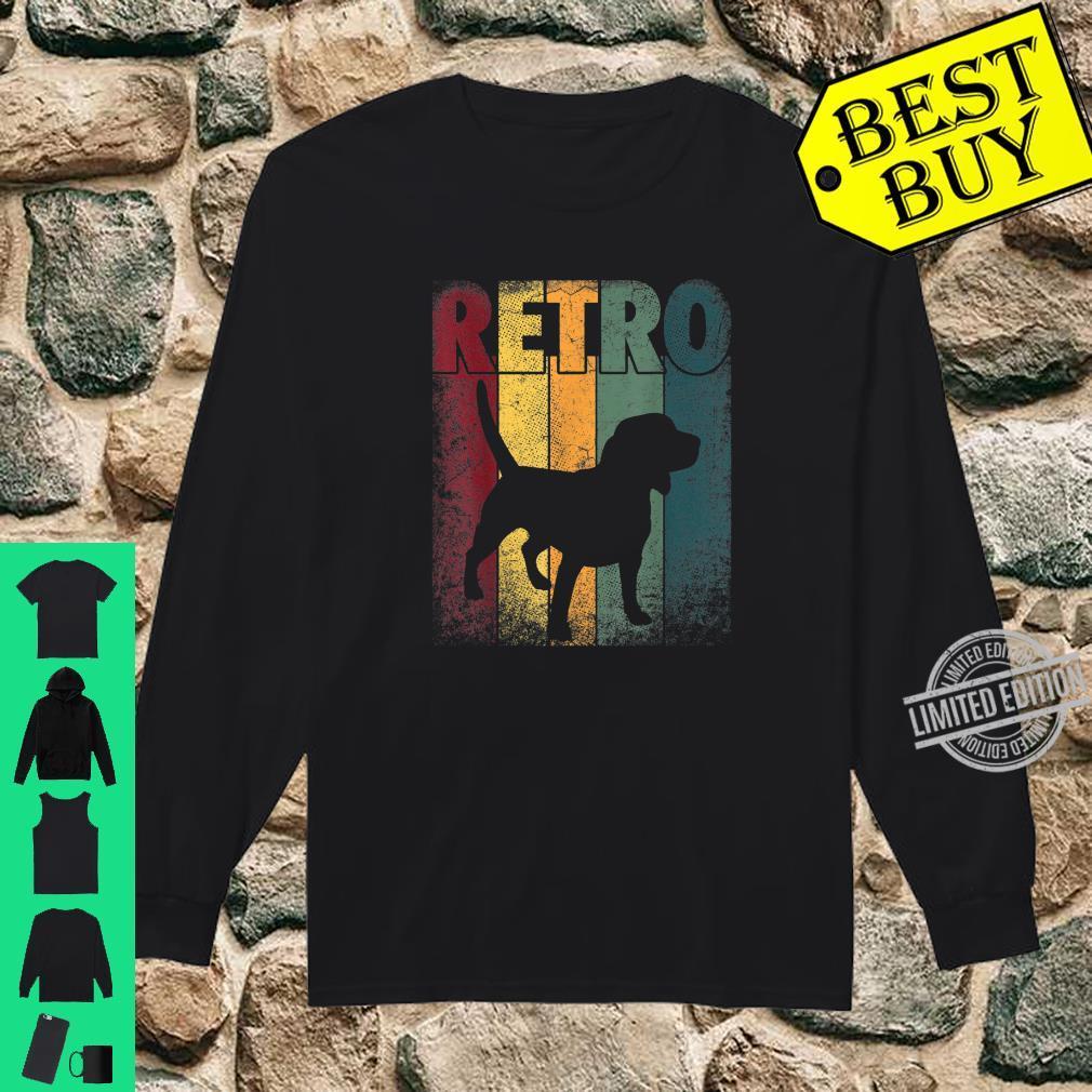 Beagle Shirt Dog Vintage Retro Style Classic Shirt long sleeved