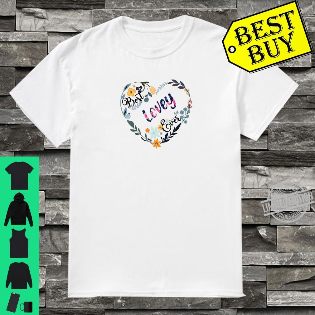 Best Lovey Ever Flower Blessed Grandma Mother's Day Shirt