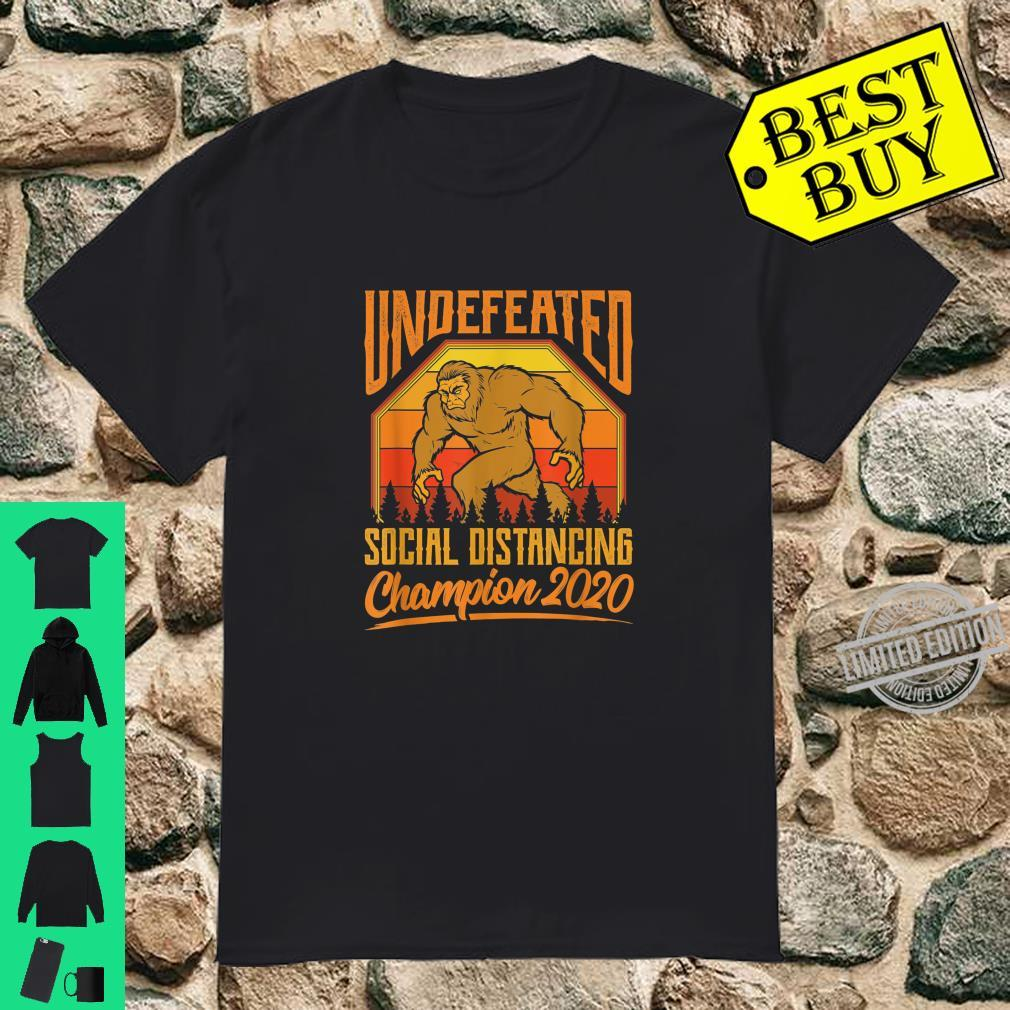 Big Foot Social Distancing Champion 2020 Undefeated Shirt