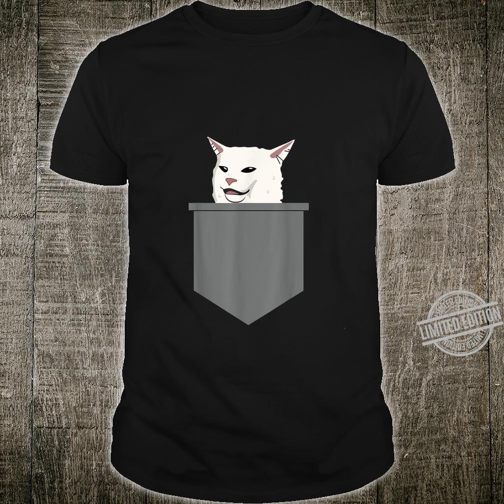 Cat Meme Yelling At Table Dinner Ugly Christmas Shirt