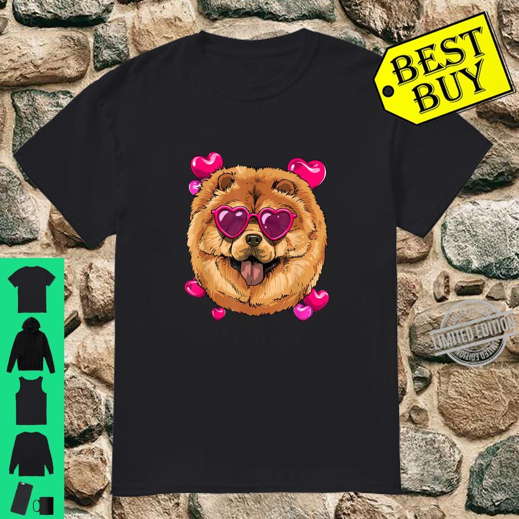 Chow Chow Valentines Day Shirt Heart Dog Shirt