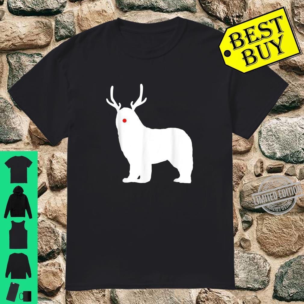 Christmas Newfoundland Reindeer Newfie Dog Shirt