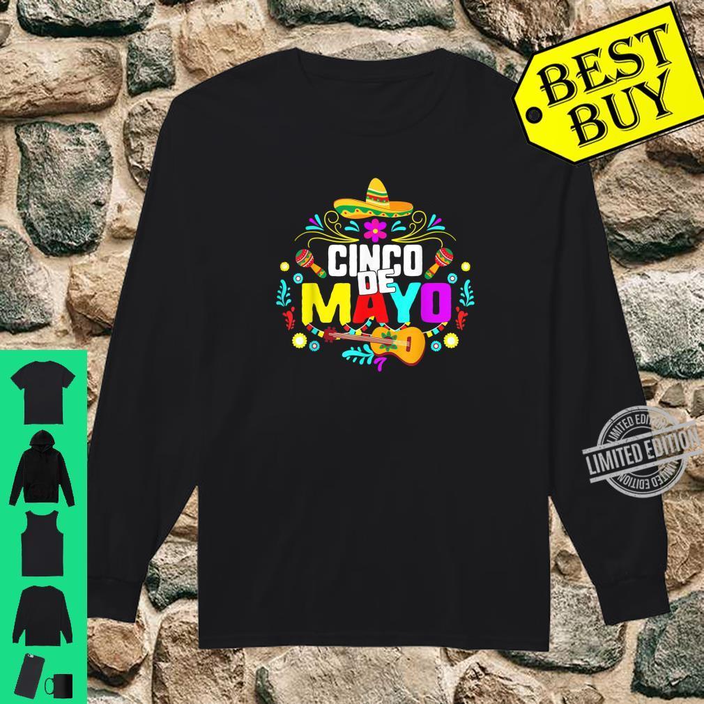 Cinco De Mayo Mexico Taco Nacho Mexican Fiesta Cactus Shirt long sleeved