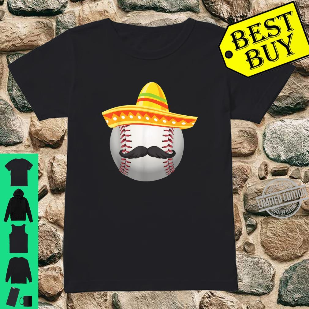 Cinco De Mayo Softball Mexican Sombrero Shirt ladies tee