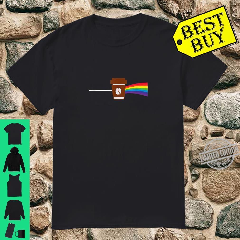 Coffee makes everything better like a rainbow present Shirt