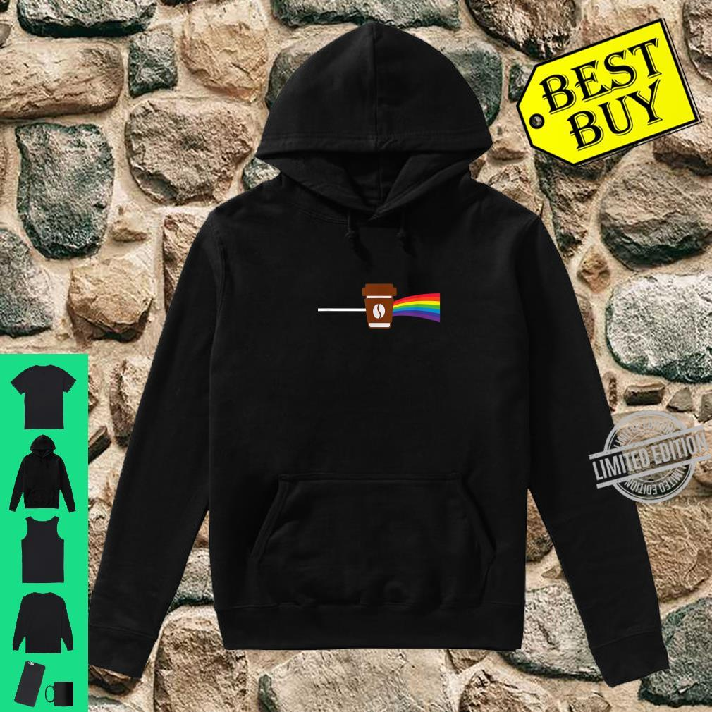 Coffee makes everything better like a rainbow present Shirt hoodie