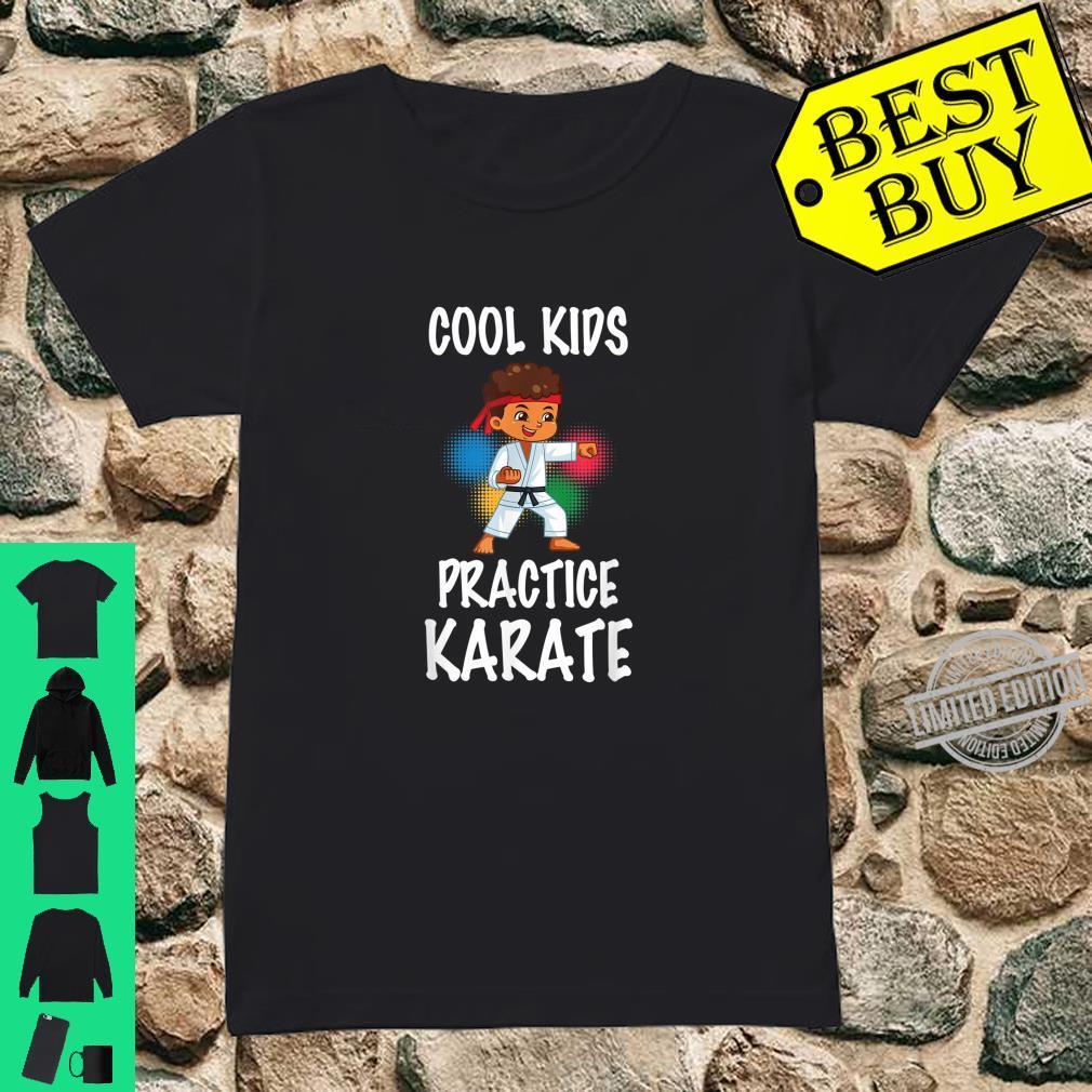 Cute Cool Practice Karate Karate Instructors Shirt ladies tee