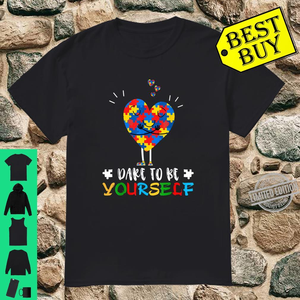 Dare to Be Yourself Shirt Autism Awareness Puzzle Heart Shirt