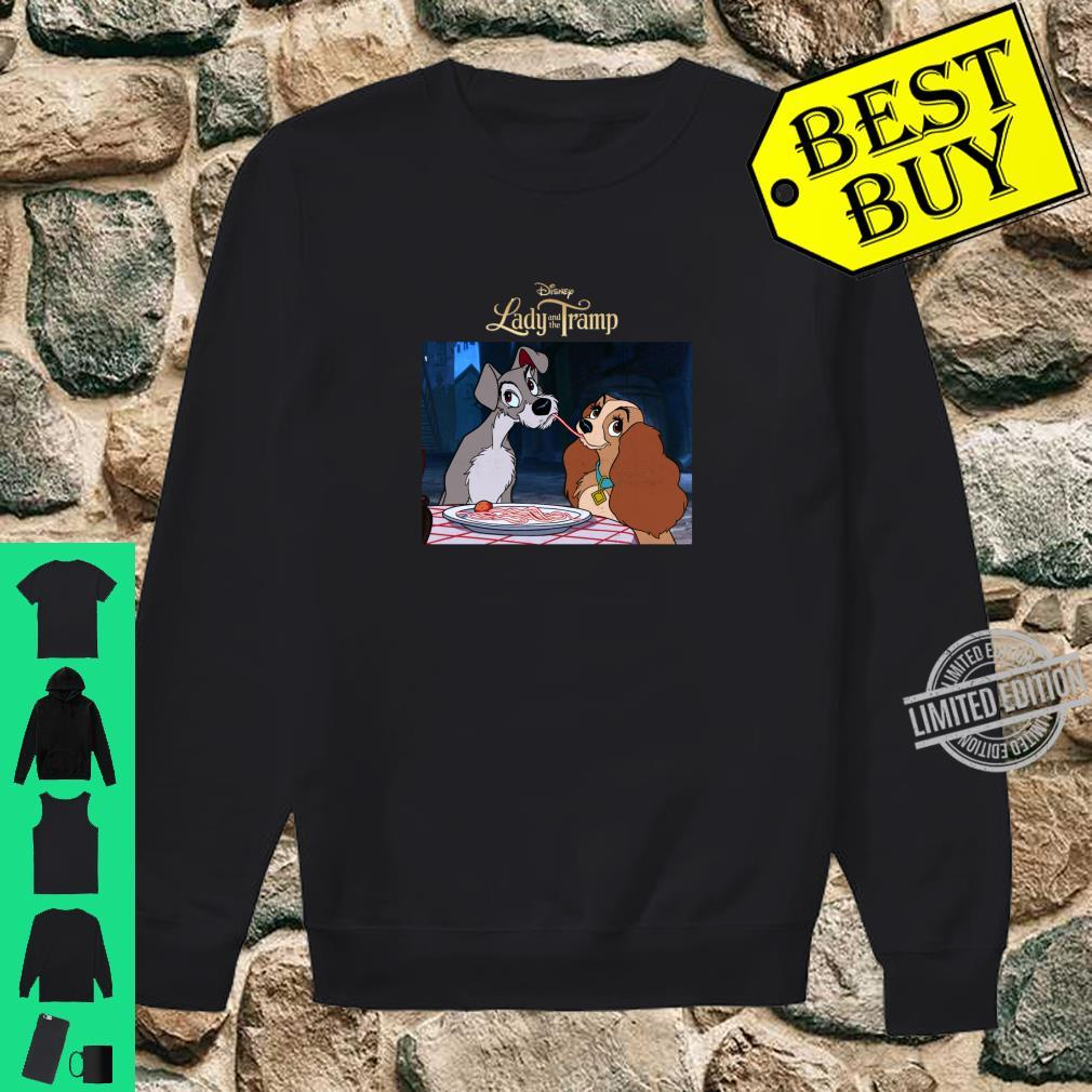 Disney Lady And The Tramp Spaghetti Distressed Shirt sweater