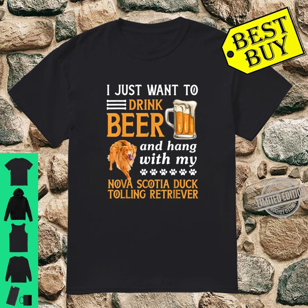 Drink Beer And Hang With My Nova Scotia Duck Tolling Shirt