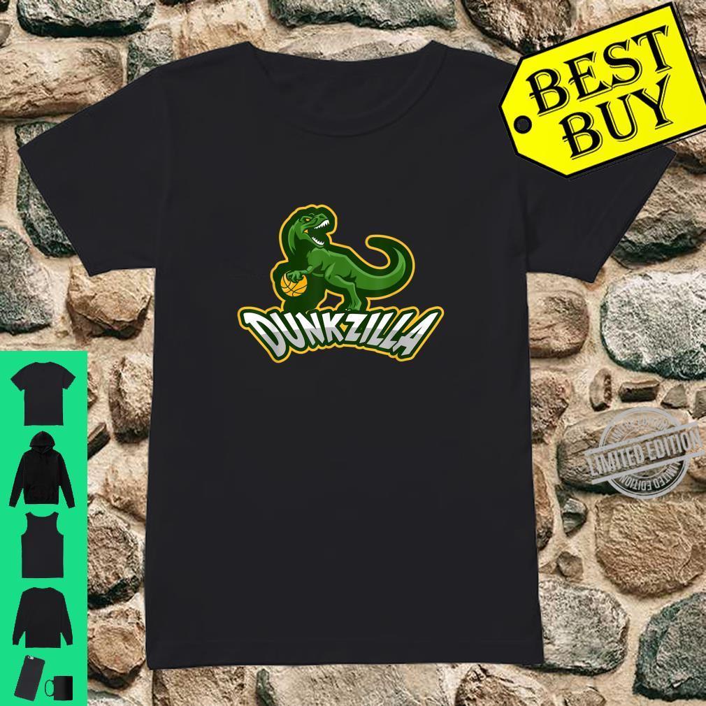 Dunkzilla Basketball Dinosaur T Rex Shirt ladies tee