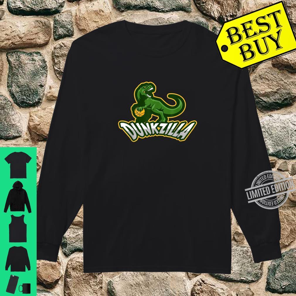 Dunkzilla Basketball Dinosaur T Rex Shirt long sleeved