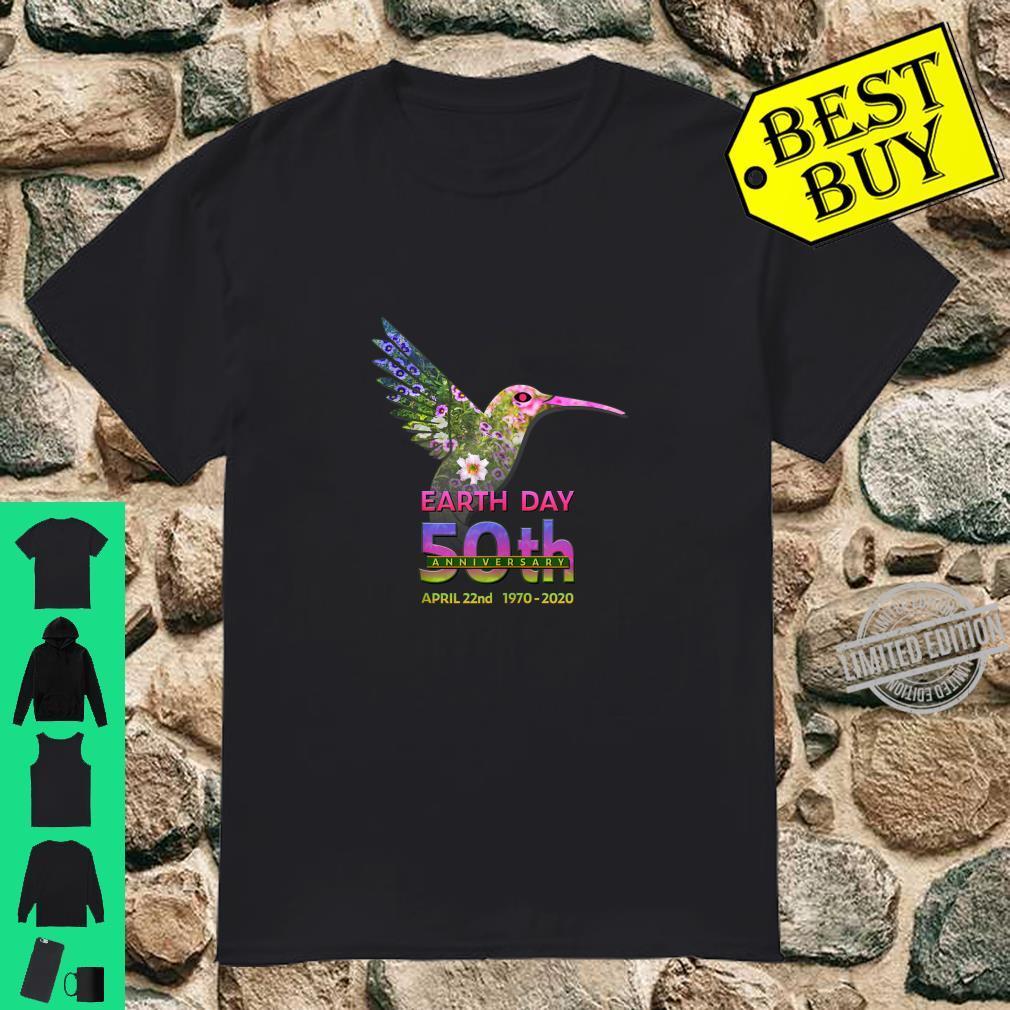 Earth Day 50th Anniversary Hummingbird Silhouette Shirt