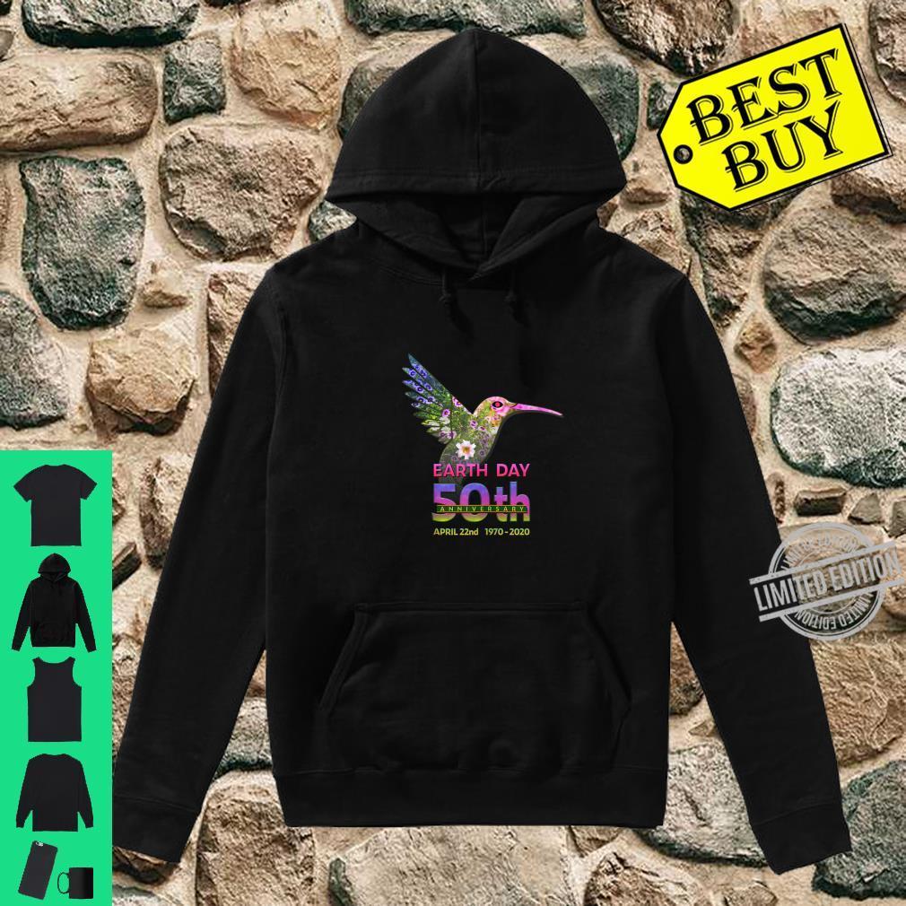 Earth Day 50th Anniversary Hummingbird Silhouette Shirt hoodie