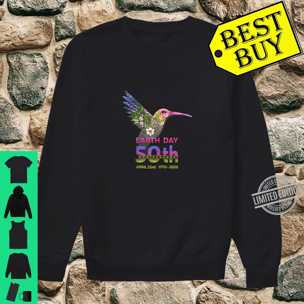 Earth Day 50th Anniversary Hummingbird Silhouette Shirt sweater