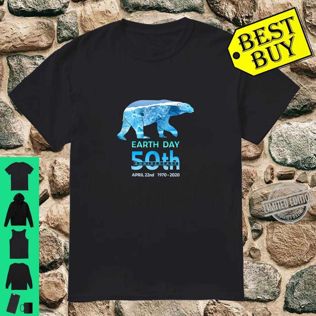 Earth Day 50th Anniversary Polar Bear Silhouette Shirt