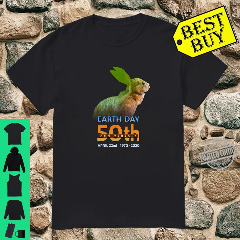 Earth Day 50th Anniversary Rabbit Hare Silhouette Shirt