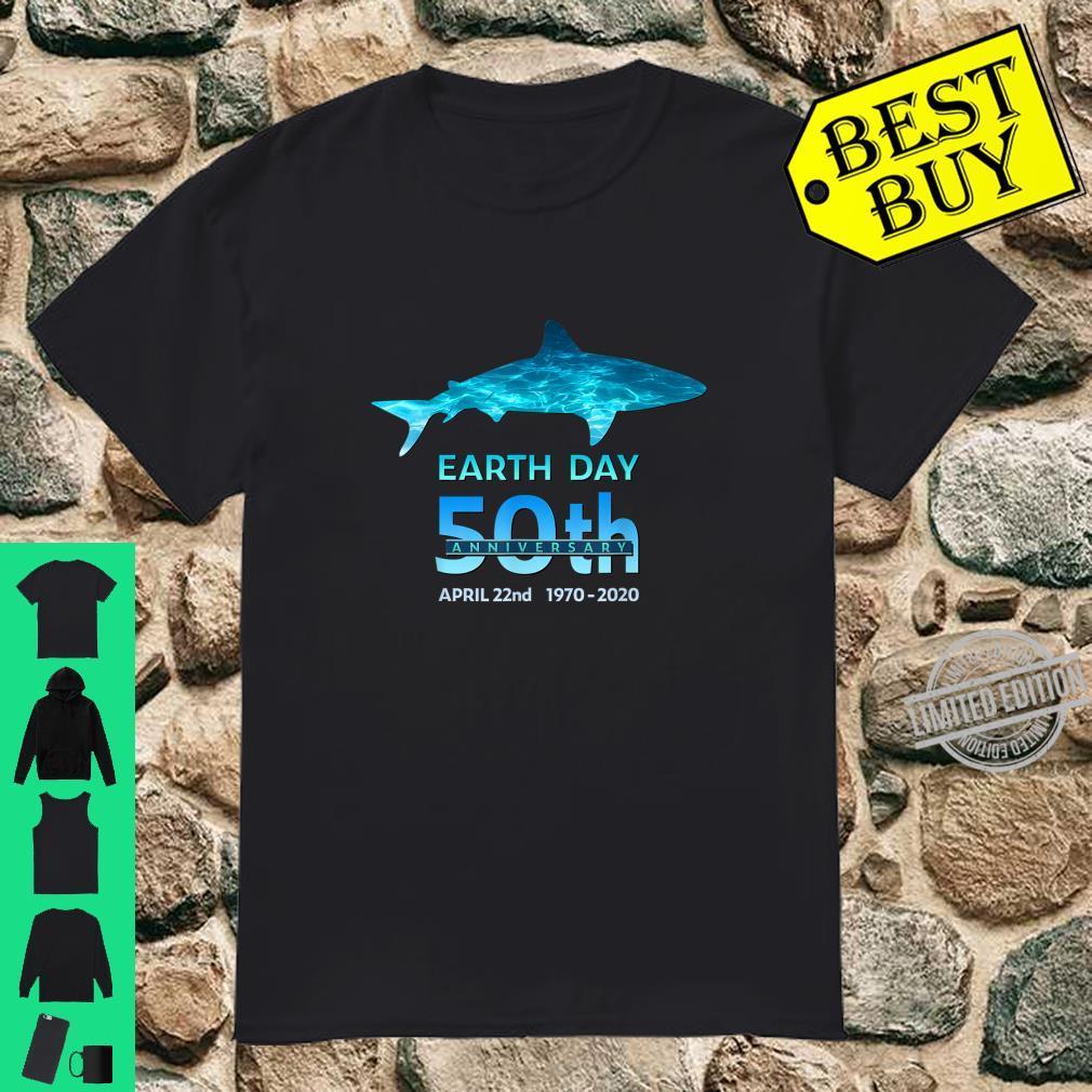 Earth Day 50th Anniversary Shark Silhouette Shirt