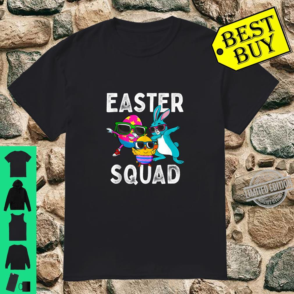Easter Squad Dabbing Bunny Chick Egg Hunting Matching Family Shirt