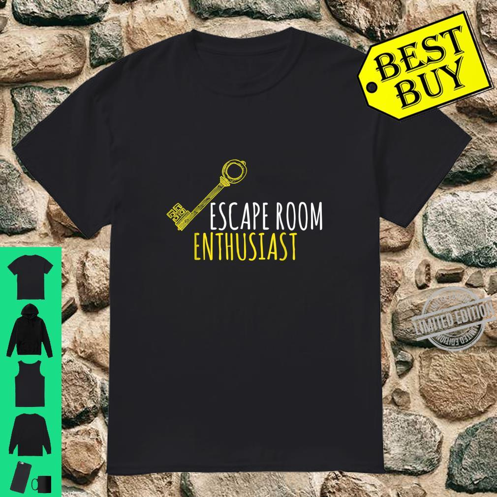 Escape Room Enthusiast Shirt Adventurer Puzzle Room Shirt