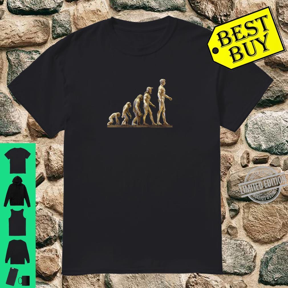 Evolution Golden Monkey to Man Birthday Love Art Shirt