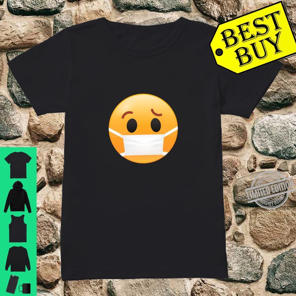 Face Medical Mask Emojis Surgical Health Shirt ladies tee