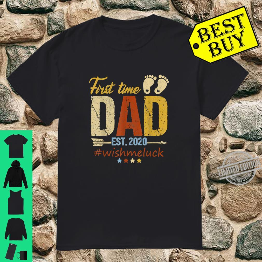 First Time Dad Est. 2020 Fathers Days Shirt