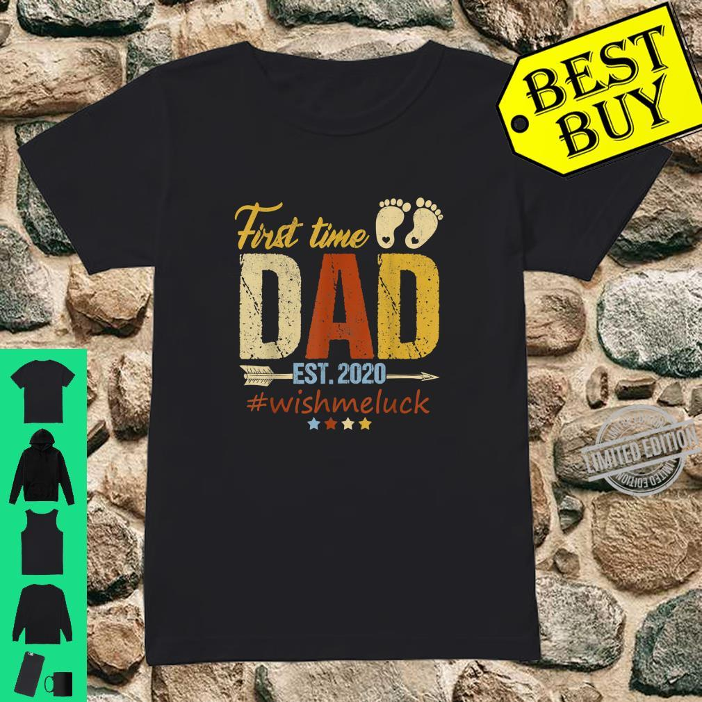 First Time Dad Est. 2020 Fathers Days Shirt ladies tee