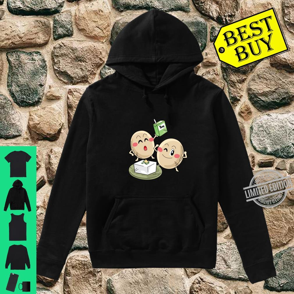 Funny Big Cartoon Soy Beans With Soy Milk Novelty Shirt hoodie