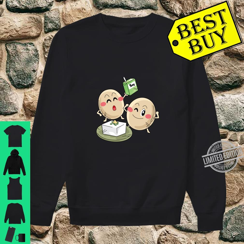 Funny Big Cartoon Soy Beans With Soy Milk Novelty Shirt sweater