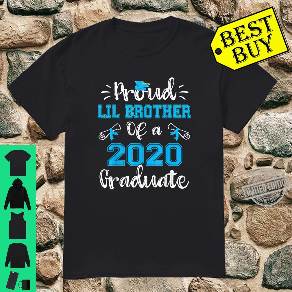 Funny Proud Lil Brother Of A 2020 Graduate Shirt Senior Shirt