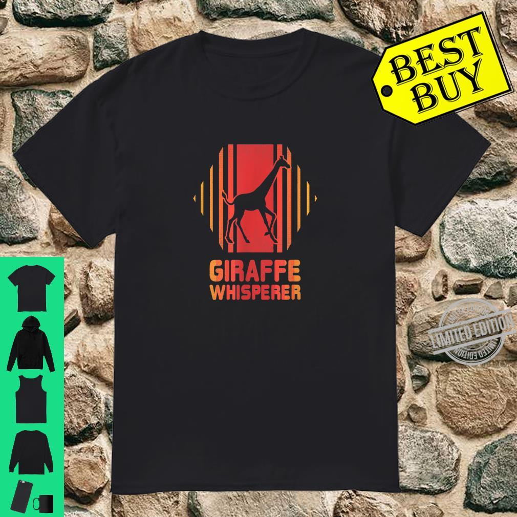 Giraffe Whisperer Retro 80s EDM Techno Rave Shirt