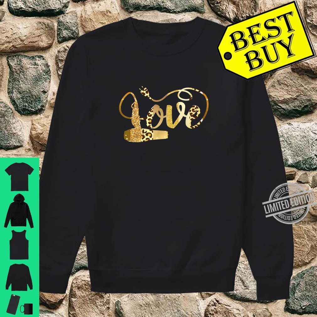Hair Stylist Valentines Shirt Diva Leopard Animal Print Shirt sweater