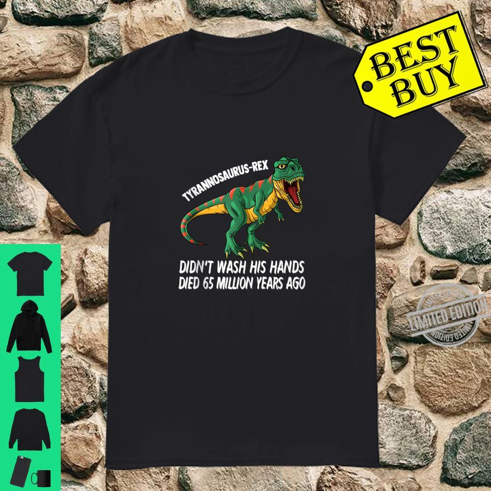 Hand Washing Dinosaur Shirt TRex Handwashing Shirt