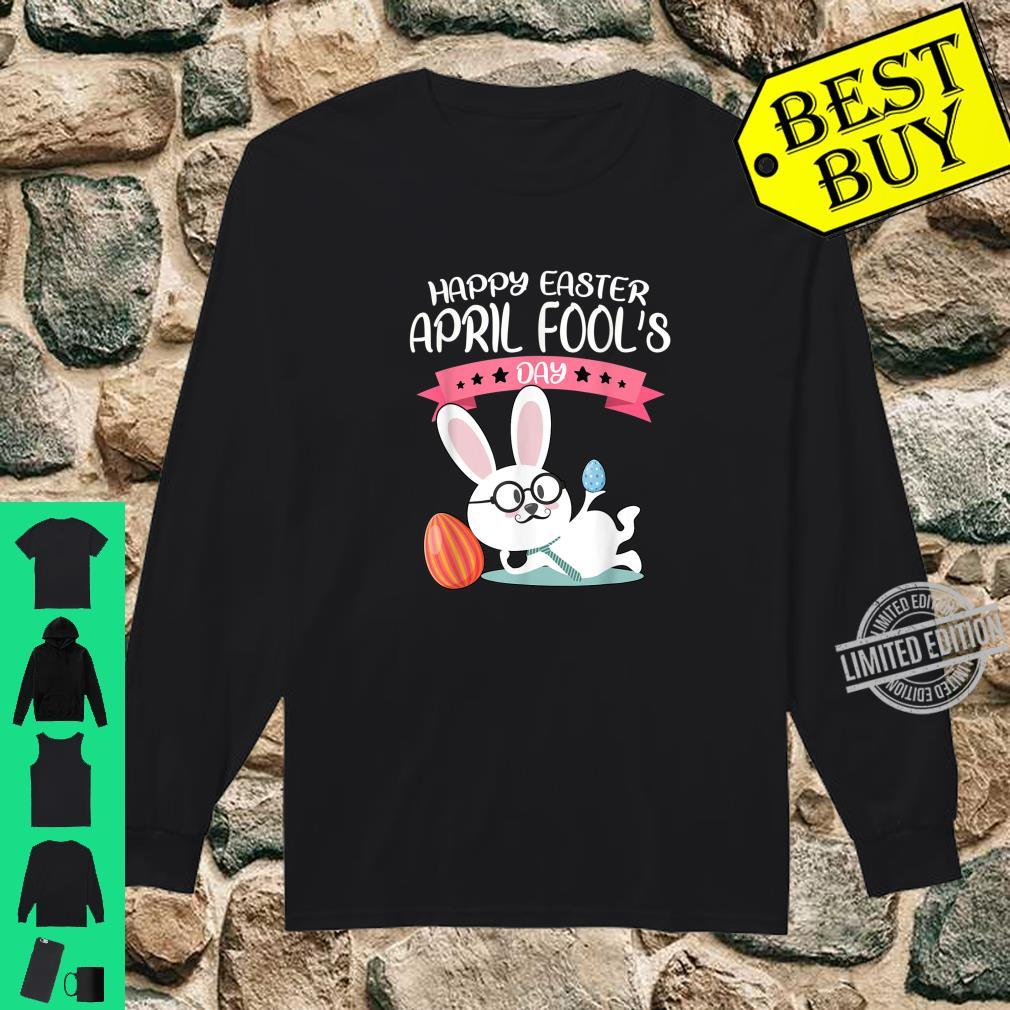 Happy Easter April Fool's Day Shirt Easter 2020 Nerdy Shirt long sleeved