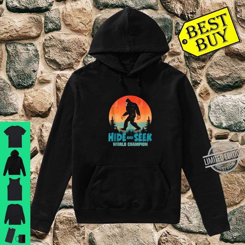 Hide and Seek World Champion Bigfoot Shirt. Sasquatch Shirt. Shirt hoodie