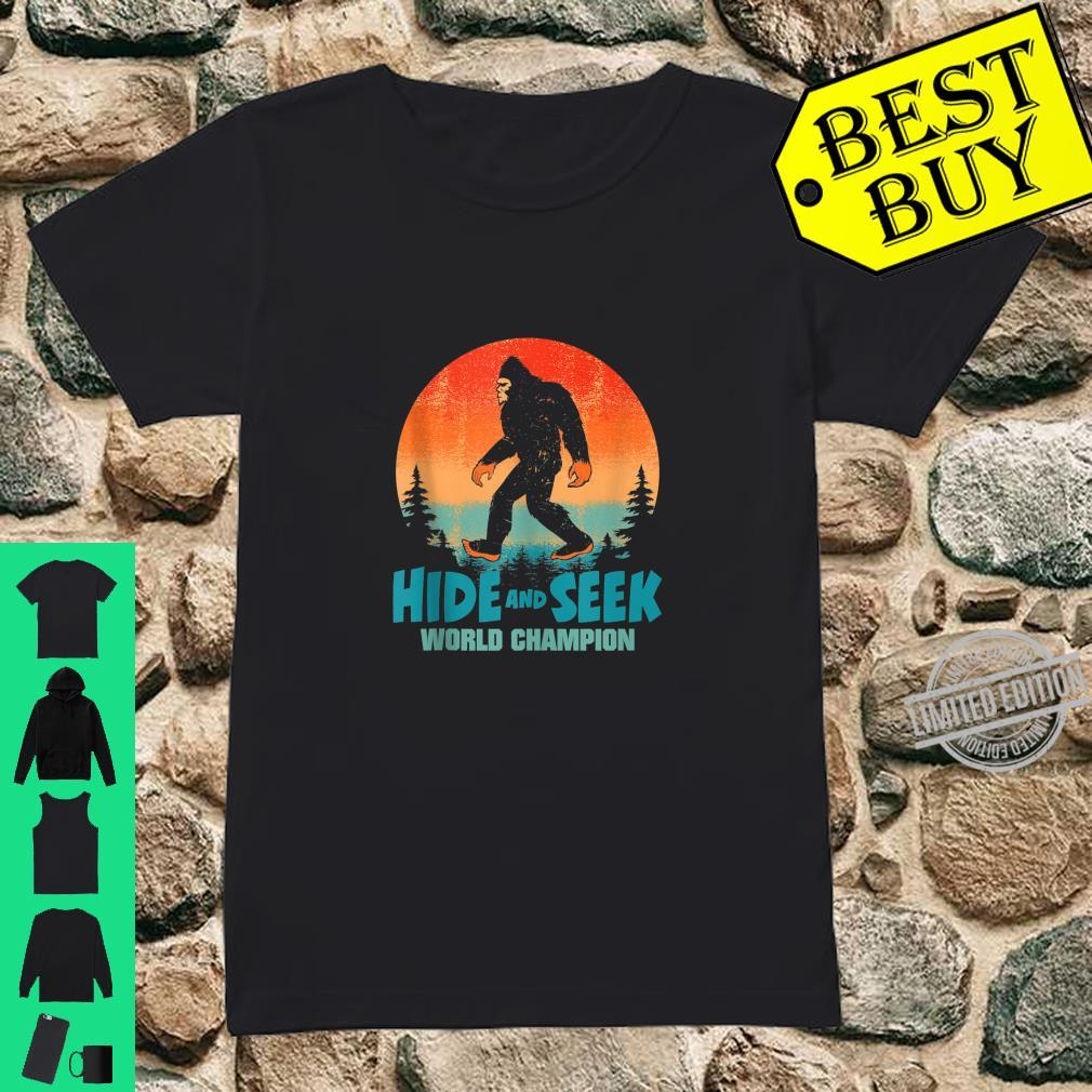 Hide and Seek World Champion Bigfoot Shirt. Sasquatch Shirt. Shirt ladies tee
