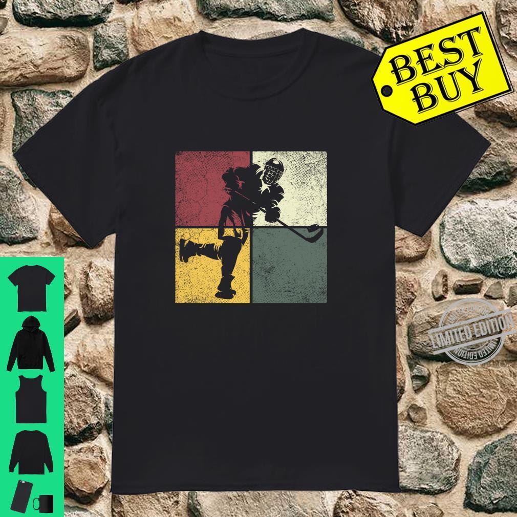 Hockey Retro Distressed Style Vintage Shirt Boys Shirt