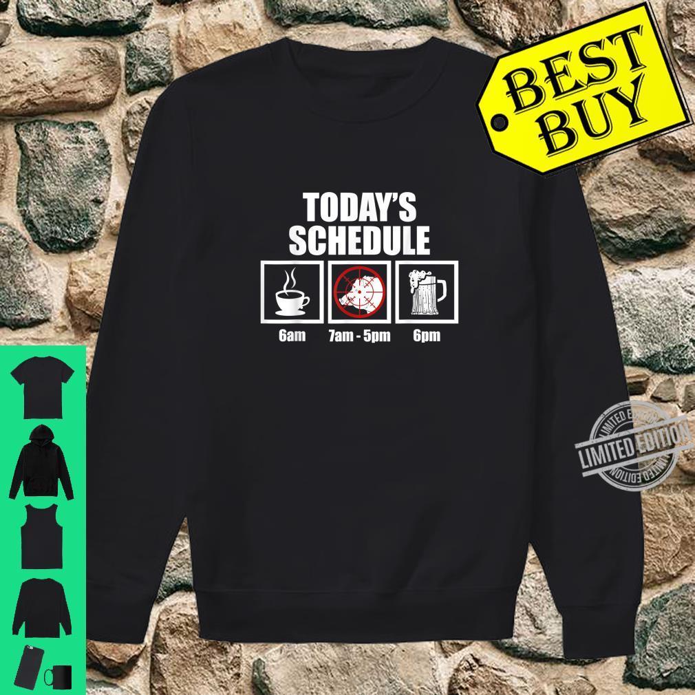 Hog Hunting Season Schedule Boar Hunter Shirt sweater