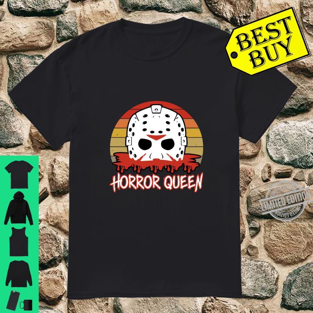 Horror Queen Vintage Horror Fan Halloween Shirt